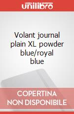 Volant journal plain XL powder blue/royal blue articolo per la scrittura