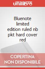 Bluenote limited edition ruled nb pkt hard cover red articolo per la scrittura