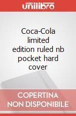 Coca-Cola limited edition ruled nb pocket hard cover articolo per la scrittura