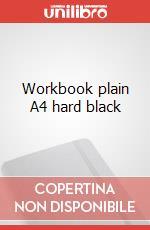 Workbook plain A4 hard black articolo per la scrittura
