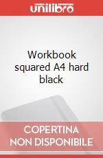 Workbook squared A4 hard black articolo per la scrittura