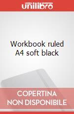 Workbook ruled A4 soft black articolo per la scrittura