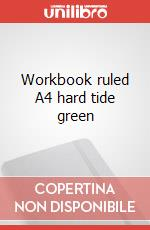 Workbook ruled A4 hard tide green articolo per la scrittura