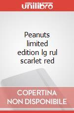 Peanuts limited edition lg rul scarlet red articolo per la scrittura