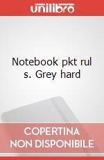 Notebook pkt rul s. Grey hard articolo per la scrittura
