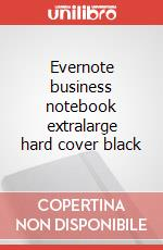 Evernote business notebook extralarge hard cover black articolo per la scrittura