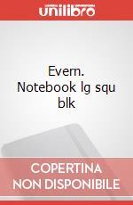 Evern. Notebook lg squ blk articolo per la scrittura