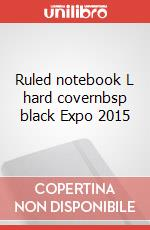 Ruled notebook L hard covernbsp black Expo 2015 articolo per la scrittura