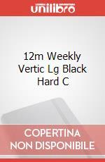 12m Weekly Vertic Lg Black Hard C articolo per la scrittura