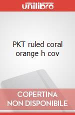 PKT ruled coral orange h cov articolo per la scrittura