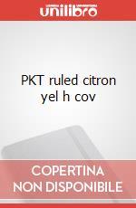 PKT ruled citron yel h cov articolo per la scrittura
