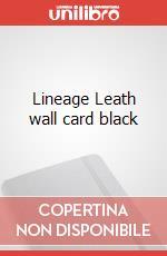 Lineage Leath wall card black articolo per la scrittura