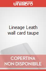 Lineage Leath wall card taupe articolo per la scrittura