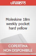 Moleskine 18m weekly pocket hard yellow articolo per la scrittura