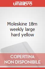 Moleskine 18m weekly large hard yellow articolo per la scrittura