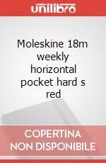 Moleskine 18m weekly horizontal pocket hard s red articolo per la scrittura
