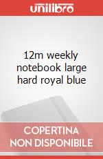 12m weekly notebook large hard royal blue articolo per la scrittura