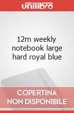 12m weekly notebook large hard royal blue articolo per la scrittura