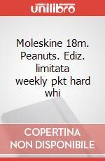 Moleskine 18m. Peanuts. Ediz. limitata weekly pkt hard whi articolo per la scrittura