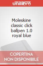 Moleskine classic click ballpen 1.0 royal blue articolo per la scrittura