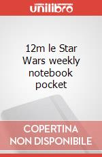 12m le Star Wars weekly notebook pocket articolo per la scrittura