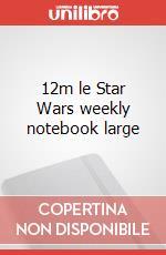 12m le Star Wars weekly notebook large articolo per la scrittura