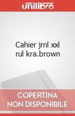 Cahier jrnl xxl rul kra.brown articolo per la scrittura