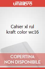 Cahier xl rul kraft color wc16 articolo per la scrittura