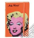 Rubrica telefonica andy warhol 10x15 marilyn arancio scrittura