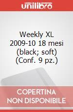 Weekly XL 2009-10 18 mesi (black, soft) (Conf. 9 pz.) articolo per la scrittura di Moleskine