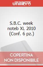 S.B.C. week noteb XL 2010 (Conf. 6 pz.) articolo per la scrittura di Moleskine