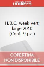 H.B.C. week vert large 2010 (Conf. 9 pz.) articolo per la scrittura di Moleskine
