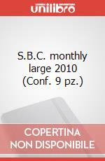 S.B.C. monthly large 2010 (Conf. 9 pz.) articolo per la scrittura di Moleskine
