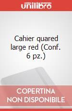 Cahier quared large red (Conf. 6 pz.) articolo per la scrittura