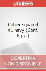 Cahier squared XL navy (Conf. 6 pz.) articolo per la scrittura di Moleskine