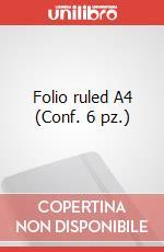 Folio ruled A4 (Conf. 6 pz.) articolo per la scrittura di Moleskine