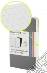 Volant Moleskine - ExtraSmall RIGHE GRIGIO (2 taccuini) articolo per la scrittura di Volant ExtraSmall Ruled Grey