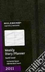 Agenda Moleskine 2011 - SETTIMANALE ORIZZONTALE POCKET Copertina Rigida Nera articolo per la scrittura