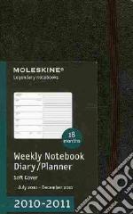 Agenda 18 mesi 2010/2011 - SETTIMANALE POCKET Copertina Morbida Nera articolo per la scrittura