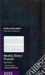 Agenda Moleskine 2011 - SETTIMANALE VERTICALE LARGE Copertina Rigida Nera articolo per la scrittura