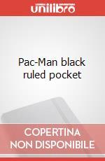 Pac-Man black ruled pocket articolo per la scrittura