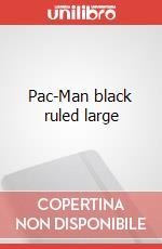 Pac-Man black ruled large articolo per la scrittura