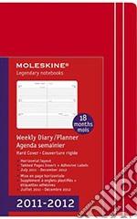Moleskine Agenda 18 mesi 2011/2012 - Orizzontale Large Rossa articolo per la scrittura