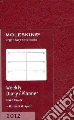 Moleskine Agenda 2012 Giornaliera EXTRASMALL Settimanale Orizzontale - Copertina Mattone articolo per la scrittura