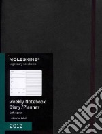 Moleskine Agenda 2012 Settimanale EXTRALARGE - Copertina Morbida Nera articolo per la scrittura