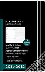 Moleskine Agenda 18 mesi 2011/2012 - Pocket Nera Rigida articolo per la scrittura