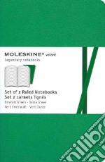 Emerald green ruled volant notebooks P articolo per la scrittura