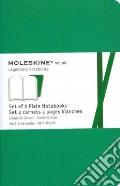 Emerald green plain volant notebooks P art vari a