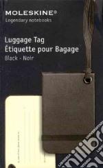 Luggage tag black