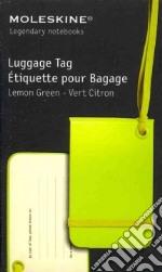 Luggage tag light green